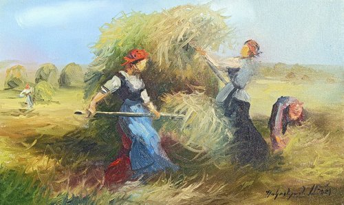 Rural motives (30x50cm, oil painting, ready to hang)