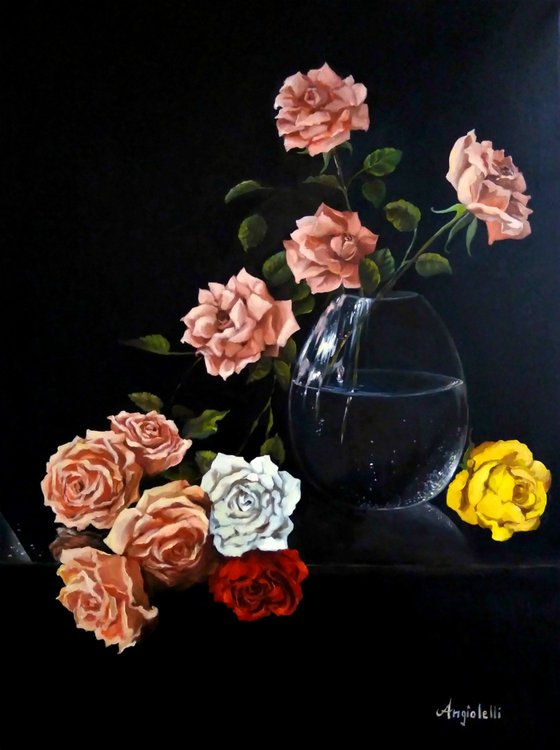 Roses- still life - realism - oil painting
