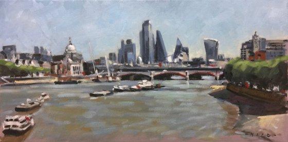 The City skyline from Waterloo Bridge