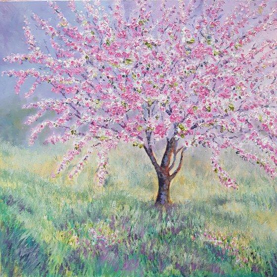 Spring Cherry Blossom ( Spring Tree blossom painting)