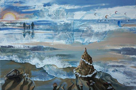Painting   Acrylic   Seaside