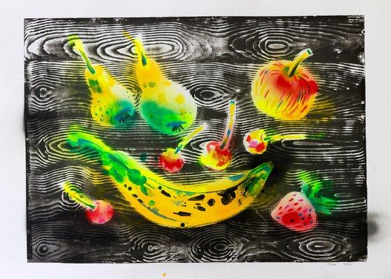 Fruits on the table 84х60 cm / 33,07х23,62 inch