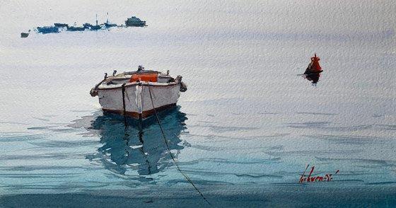 Old boat scene