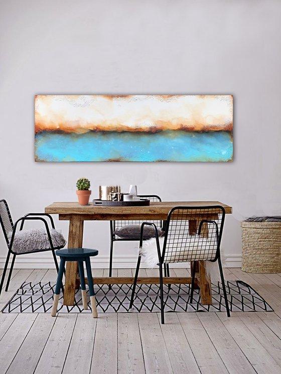 edge of raw blue (150 x 50 cm) Dee Brown