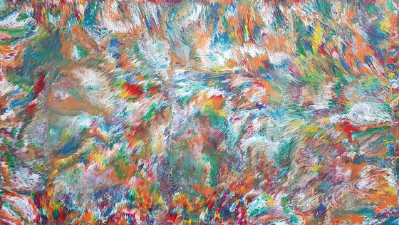 Solaris   60 x 34 IN / 152 x 86 CM   XL Abstract Painting