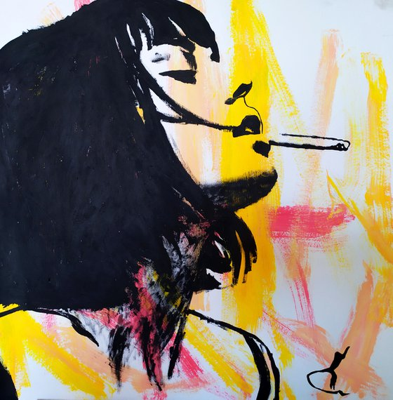 Girl with cigarette #3