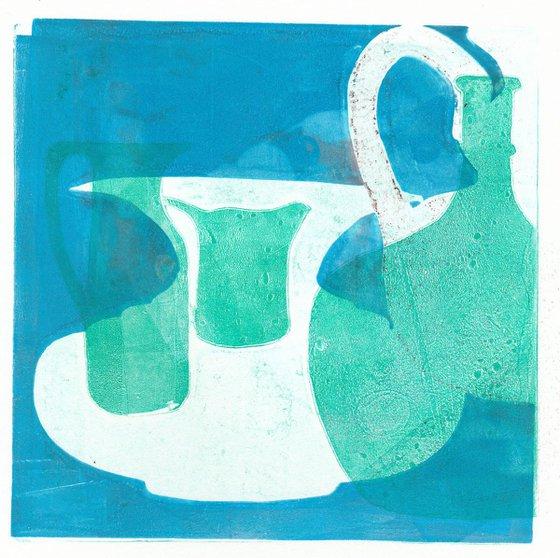 Monoprint - Still life no. 17