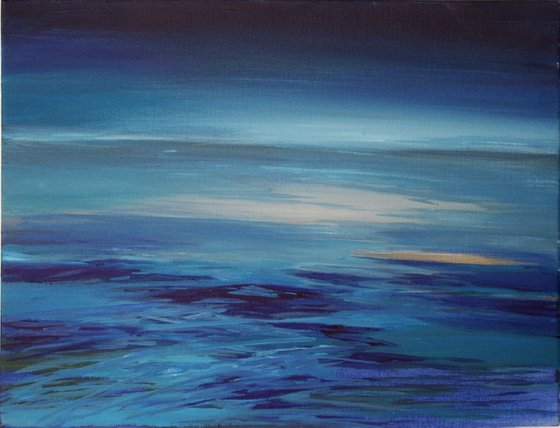 Painting   Acrylic   Evening by the sea