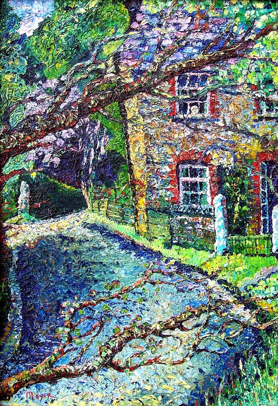 Hillside cottage (a face at the window)