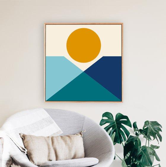 Presence (Geometric Acrylic Painting)