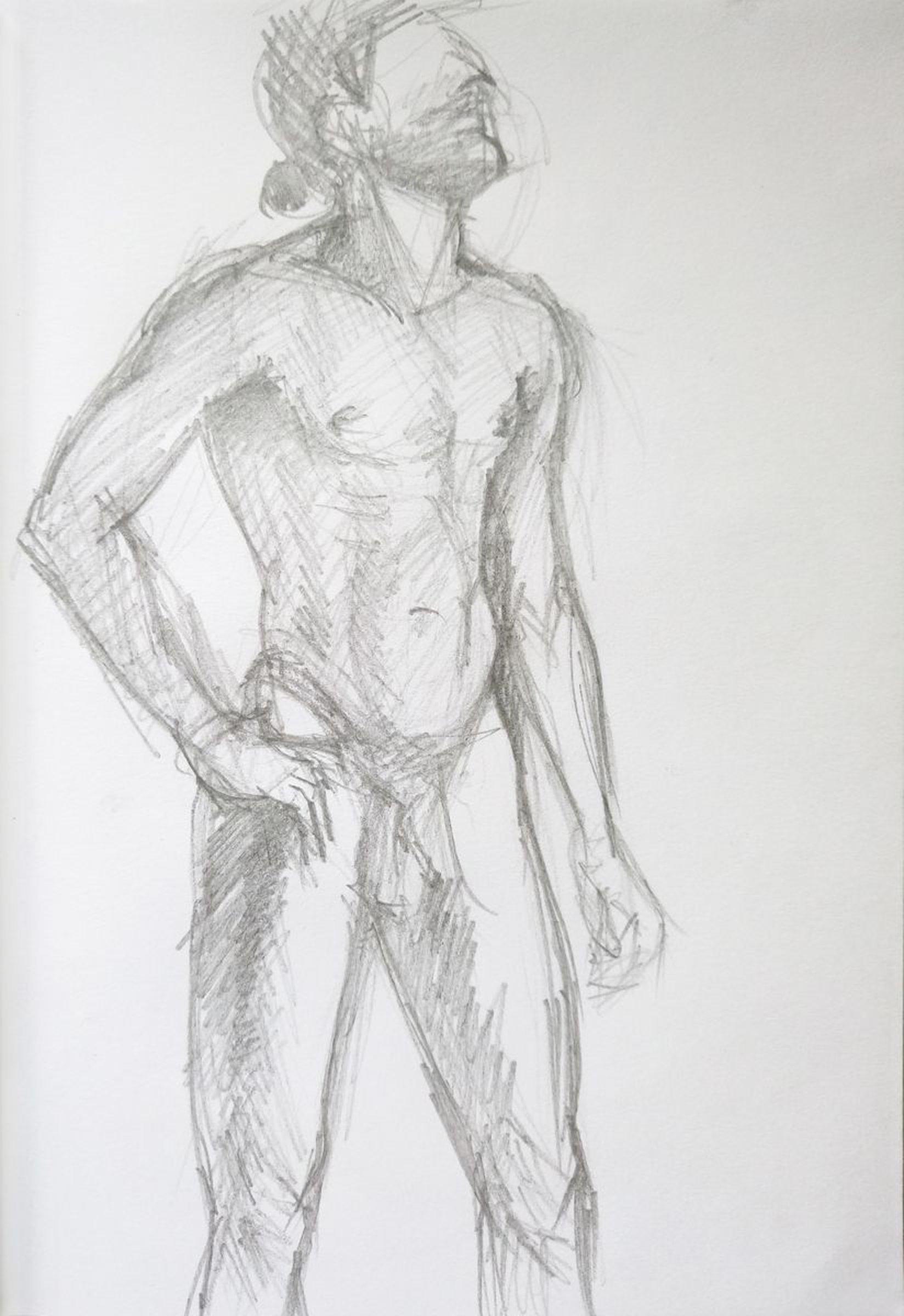 Sketch of human body man 12