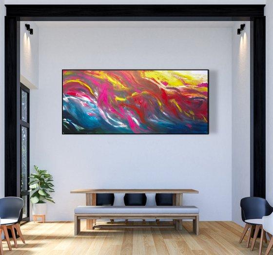 Imaginary landscape, 200x90 cm