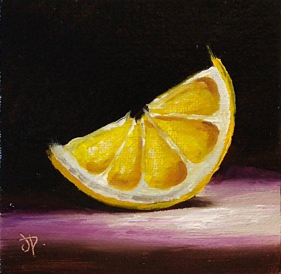 Little lemon slice #2 still life
