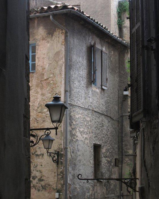Street Light, Castellane french village scene