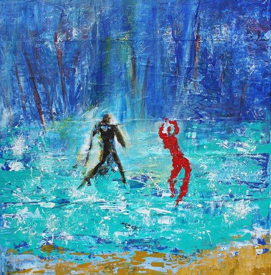 Homme et danseuse