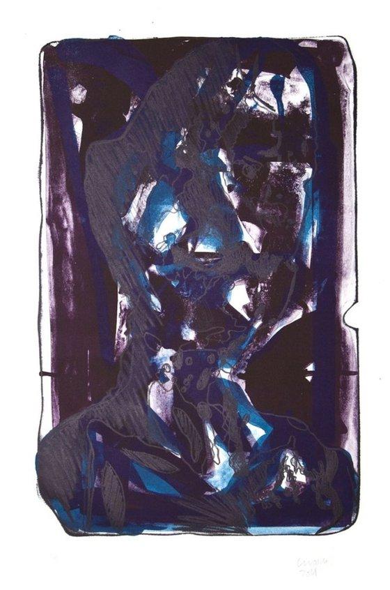 The Worrier (Blue)