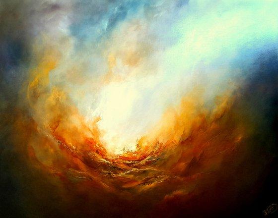 THE FURY (Large seascape/landscape oil painting)