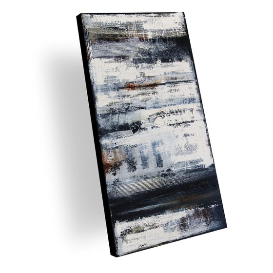 ALLIANCES - ABSTRACT ACRYLIC PAINTING TEXTURED * READY TO HANG