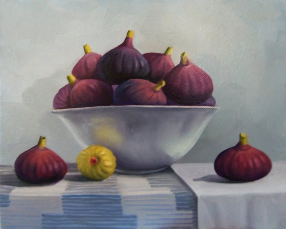Still life with fig-3 (24x30cm, oil painting, ready to hang)