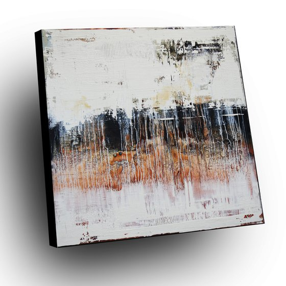 THE WORLD BEHIND - ABSTRACT ACRYLIC PAINTING TEXTURED * READY TO HANG