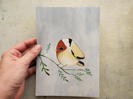 The goldfinch (oil on paper) - oil on paper