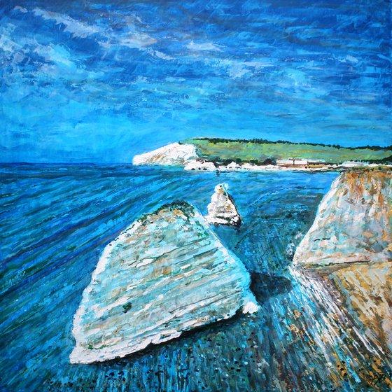 Freshwater Cliffs I ( Large 80 cm x80 cm)