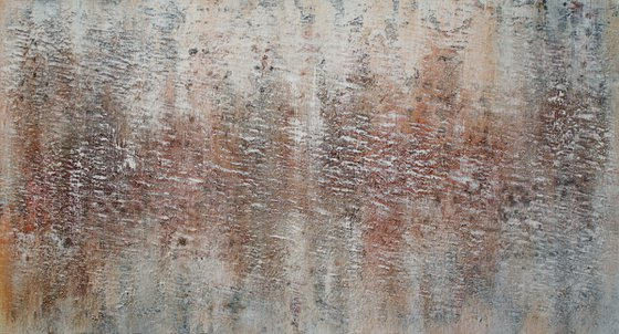 Abstract,white brown,gray,christmas sale 550 USD now 445 USD.