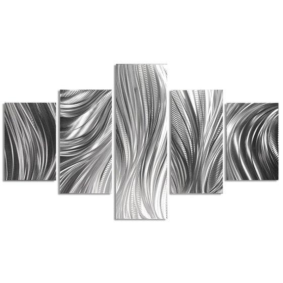 Columnar Plumage by Helena Martin - Original Abstract Metal Art on Metal