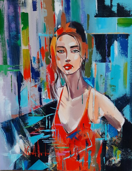 She 40x50cm ,oil/canvas, ready to hang