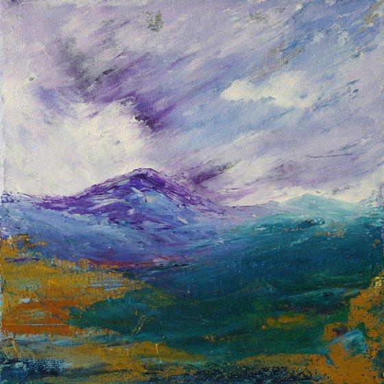 Tulloch Forest, Scottish mountain landscape