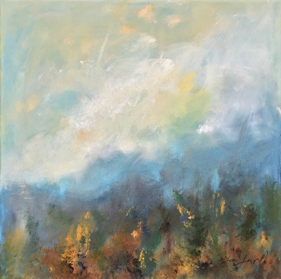 Early Light 4 - Acrylic painting, 50 x 50cm