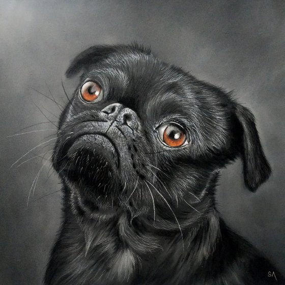 Pug Portrait (Original Painting)