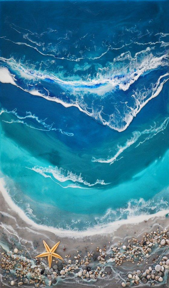 Dream - original turquoise seascape 3d artwork
