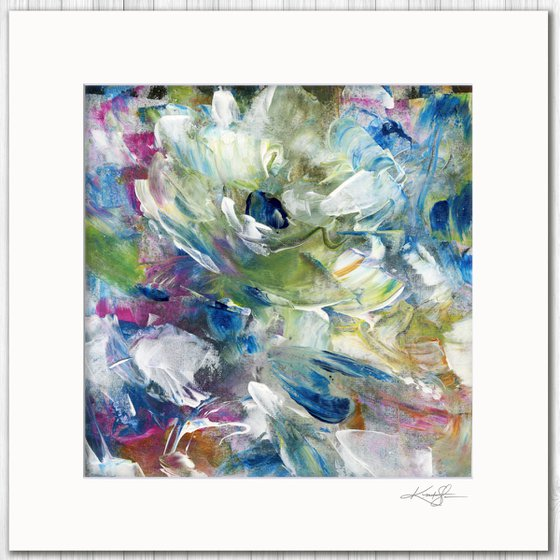 Poetic Escape 4 - Abstract Floral Painting by Kathy Morton Stanion
