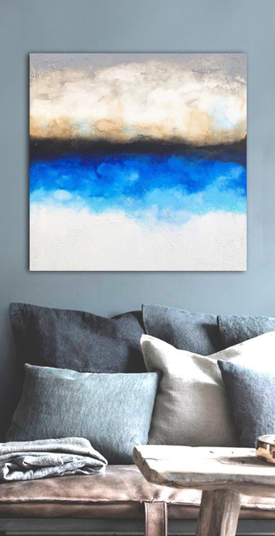 blues escape (90 x 90 cm) Dee Brown Artworks