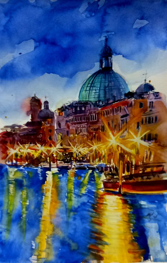 Venice at night /37 x 24 cm/