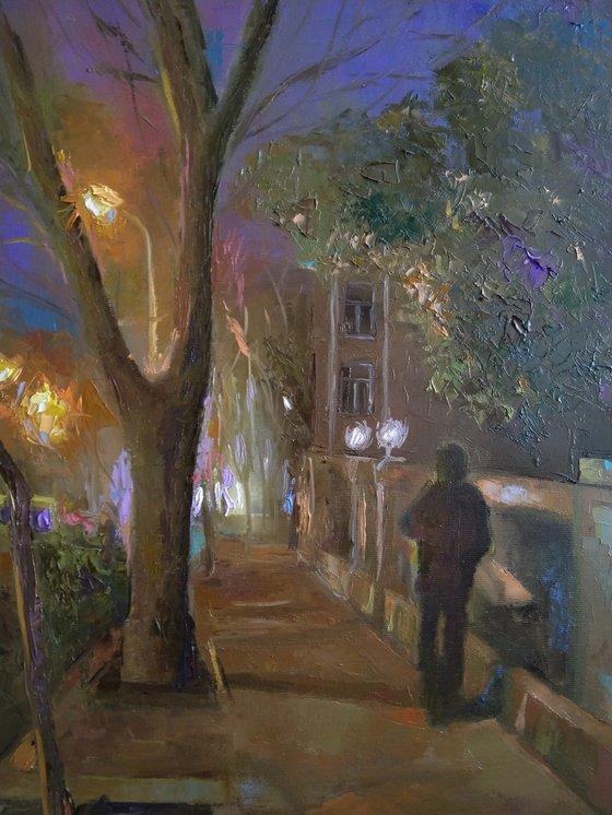 Yerevan street (40x50cm, oil painting, ready to hang)