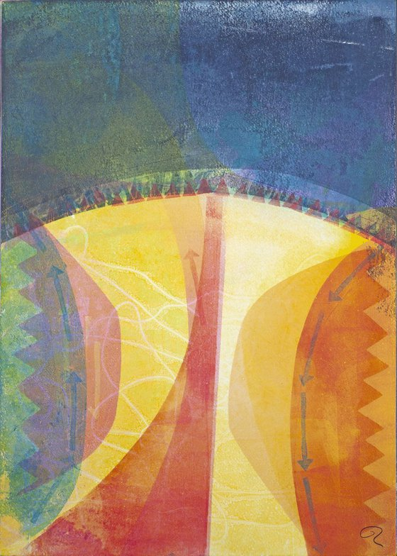 Choosing the Right Path - Unframed Edge to Edge Monotype