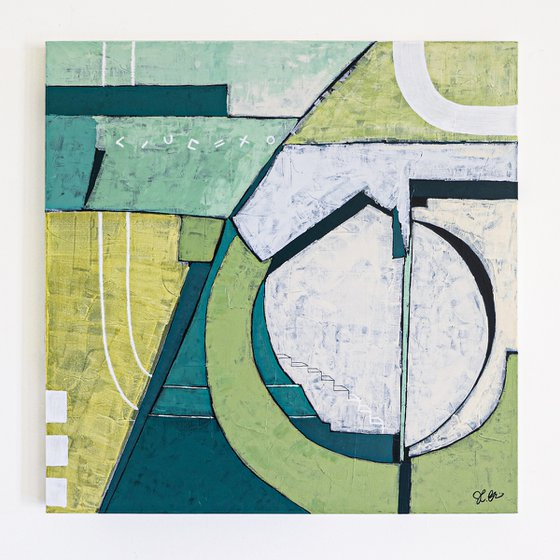 """Abstract Painting - In toto (Original, 36""""x36"""" 