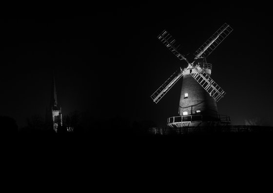 Windmill and Church, Thaxted, Essex [Framed; also available unframed]