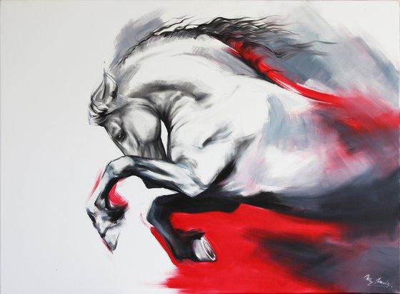 Red friesian horse