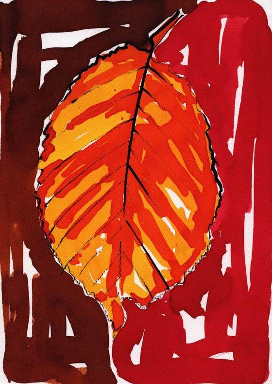 Hornbeam Leaf Painting