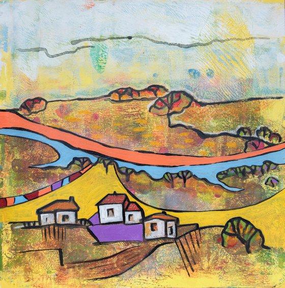 Seasonal Landscape on paper