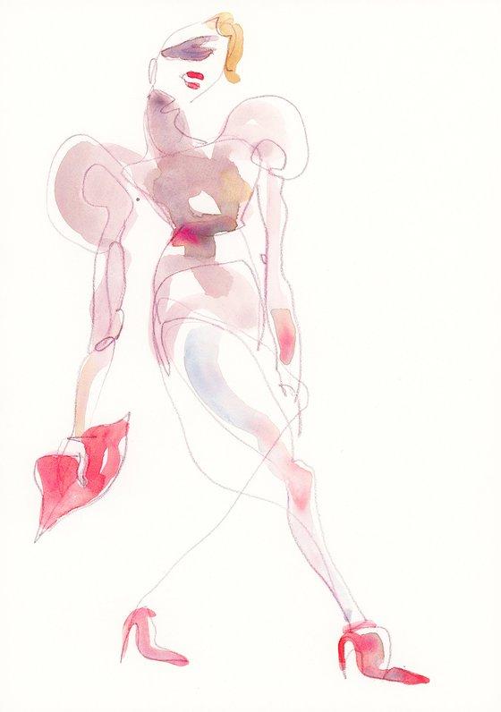 Mishi May Couture Fashion Sketch II