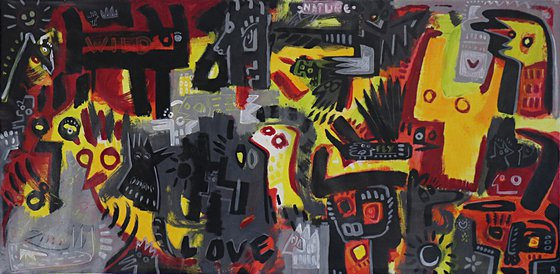 LOVE NATURE  ON FIRE 103x210cm