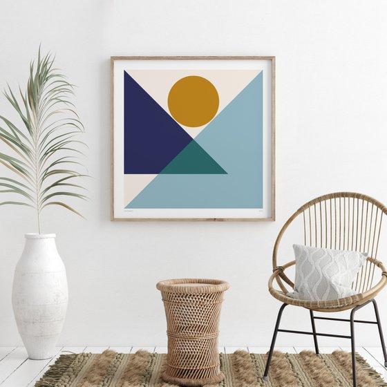 Poise (Geometric Print)