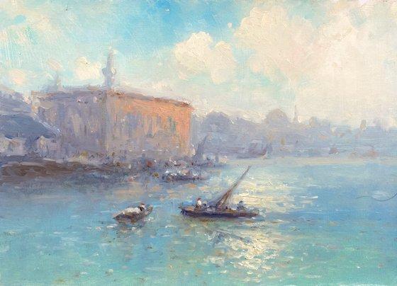 Venice, Original oil Painting, Handmade artwork, Signed, One of a Kind