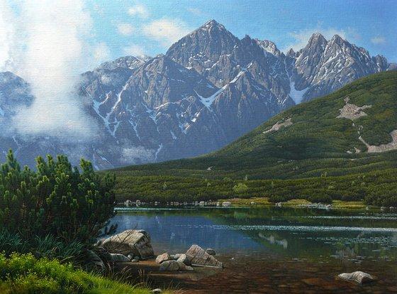 Mountain lake in High Tatra