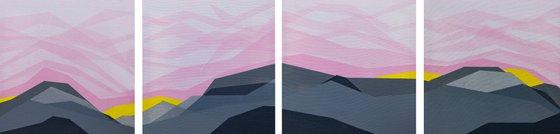 Pink Sky -Quadriptych