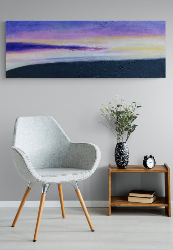 Feeling Peace - Rectangular - Landscape - Abstract - Ready to Hang Up